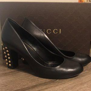 Gucci Mary Jane studded heel